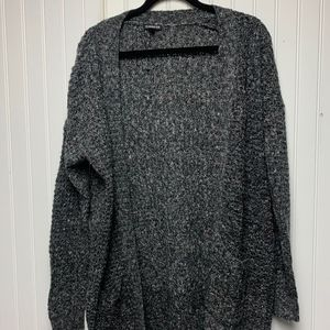 Gray Open Cardigan with colored specks